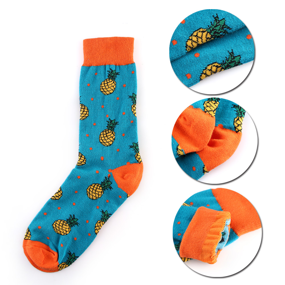 New Unisex Men Women Art Painting Fruit Socks Cotton Fashion Skateboard Socks Winter Warm Crew Socks Harajuku Funny Socks Socks