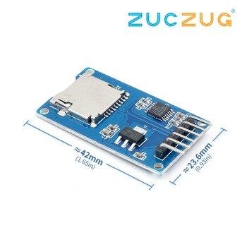1 adet/grup mikro SD kart mini TF kart okuyucu modülü SPI arayüzleri ile seviye dönüştürücü çip arduino için