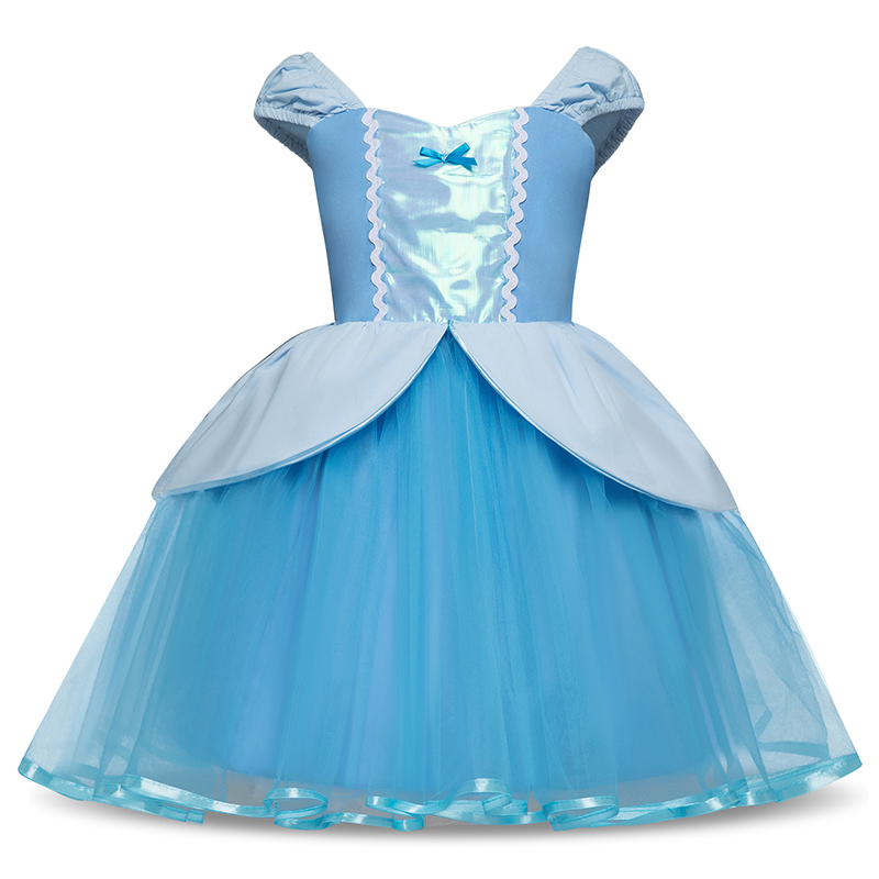Baby Girl Cinderella Dress Children Snow White Princess Dresses Rapunzel Kids Party Cosplay Costume Summer Clothes Fancy Gown цены онлайн