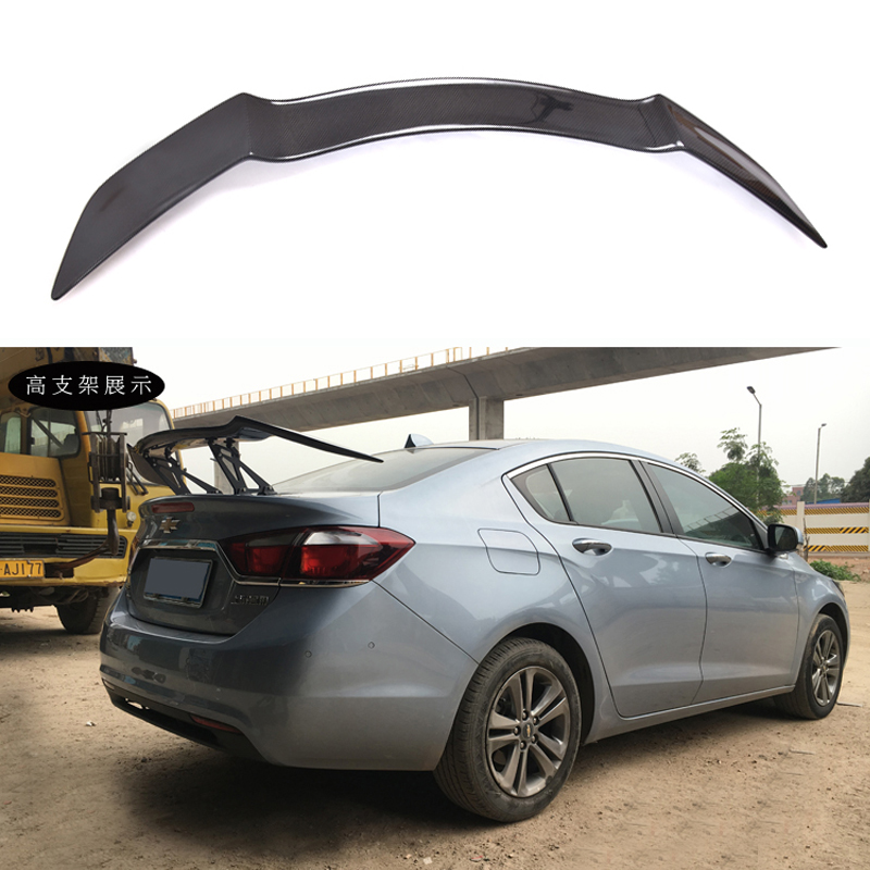 For Chevrolet Cruze Spoilers GT Style Car Tail Wing Decoration High Quality Black Carbon Fiber Rear Trunk Spoiler 2009-UP high quality car central station mat sticker for chevrolet cruze black 1pcs free shipping kl12329