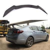 For Chevrolet Cruze Spoilers GT Style Car Tail Wing Decoration High Quality Black Carbon Fiber Rear Trunk Spoiler 2009 UP