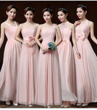 Sweet Memory Halter Pink Chiffon Bridesmaid Dresses Light Purple Bridesmaid  Dress with Bow SW1940(China 4e6ace99596d
