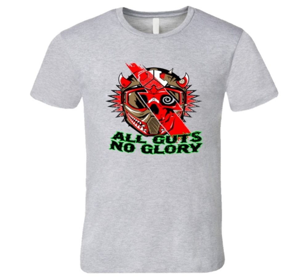 T Shirt Hot Sale <font><b>ALL</b></font> <font><b>GUTS</b></font> <font><b>NO</b></font> <font><b>GLORY</b></font> MOTOCROSS HELMET NEW COOL T Shirt T-shirt Anime Tees
