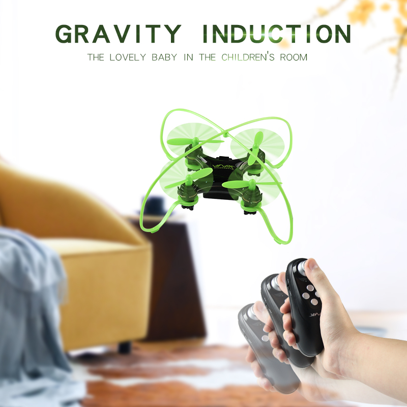 YDJ D67 Gravity Sensor Mini RTF Drone with Controller Headless Mode 2.4G 4CH Quadcopter RC Helicopter Toy Dron VS H36 H8