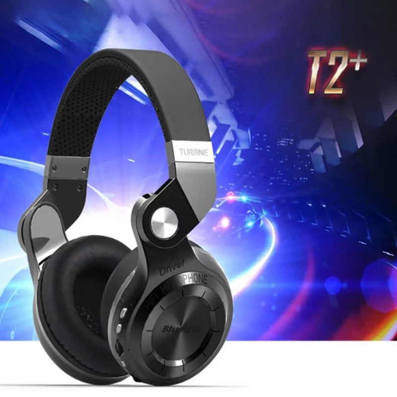 ФОТО Bluedio T2+ Wireless Bluetooth 4.1 Stereo Headphone Headset Earphone Foldable Audifonos Stretchable Support TF Card FM + Package