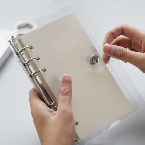 Прозрачный переплет для рассыпчатых листов, внутренний вкладыш для листов A6 A7 note book journal a5, планировщик, офисные принадлежности