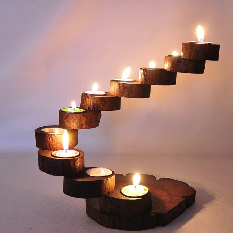 Thai Wedding Gifts: Thai Wooden Candlestick Exclusive Debut LOVE Precious Teak