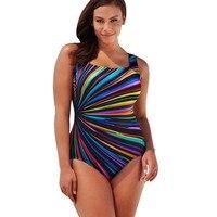 Plus Size Swimwear Female Polka Print One Piece Swimsuit Women Vintage Bathing Suit One Piece Suit