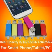 Real Capacity Mini OTG External Storage USB Flash Drive 512GB 1TB 2TB 64GB 32GB 16GB 8GB Micro Usb Stick Smart Phone Pendrives