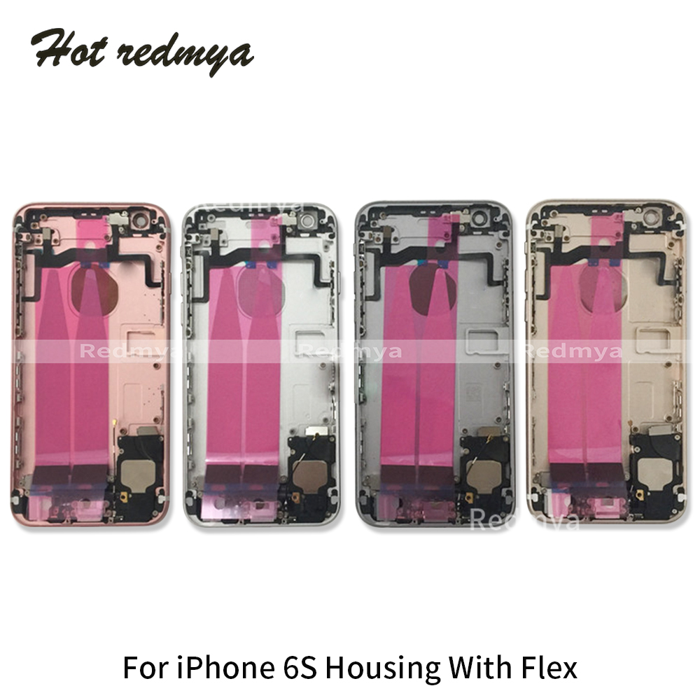 Image 4 - Full Housing For iphone 6G 6S 6S Plus Back Middle Frame Chassis Full Housing Assembly Battery Cover Door Rear With Flex Cable-in Mobile Phone Housings & Frames from Cellphones & Telecommunications