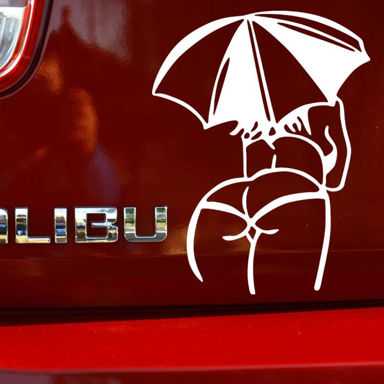 Sexy Woman Car Stickers Sexy MM Umbrella Body Personalized Car - Personalized car stickers and decals