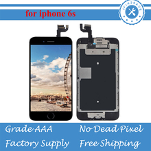 6 Plus 6 6S LCD For iPhone 6s 6s plus LCD Display Touch Screen Digitizer Full Assembly Replacement+Homebutton+Camera+Speaker