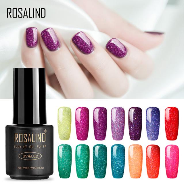 ROSALIND Nails Gel Nail Polish Gel Polish Set For Manicure Semi Permanent UV Gel Varnish Hybrid Nail Art Off Base White 2019 Top