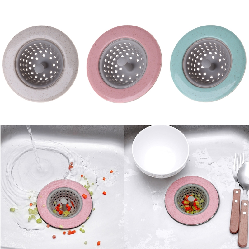 Bathroom Sinks,faucets & Accessories Bright Silicone Strainer Round Floor Drain Cover Plug Anti-blocking Water Hair Catcher Filter Kitchen Bathroom Pink/green/blue/beige