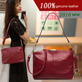 2016 new arrival top genuine women handbags female head layer cowhide leather shoulder small bags women messenger bags
