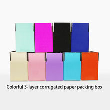 6 sizes 3-layer Kraft corrugated paper box thick paper express shipping box blue pink black Gift/Accessories/Cosmetics paper Box(China)