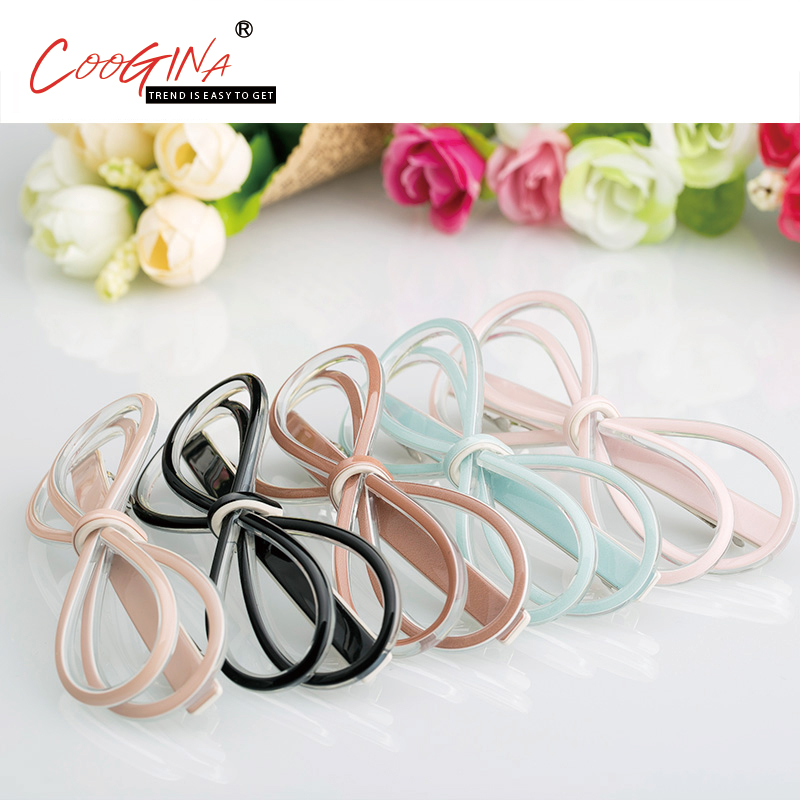 Coogina 2018 New Fashion High Quality Hair Accessories Barrettes Girls Top Hair Clips Hair Jewelry Scrunchies Solid Hair Clips