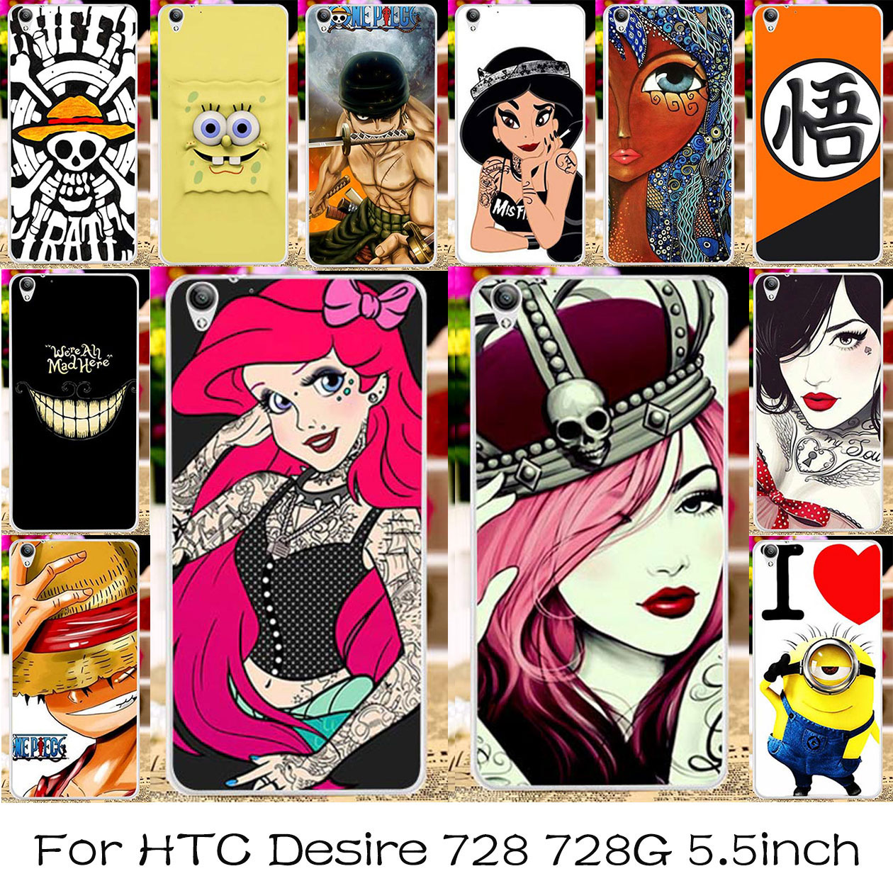 TAOYUNXI Silicone Plastic Phone Case For HTC Desire 728 728G Dual Sim D728T D728W Shell For HTC Desire 728 Bag Cover Housing