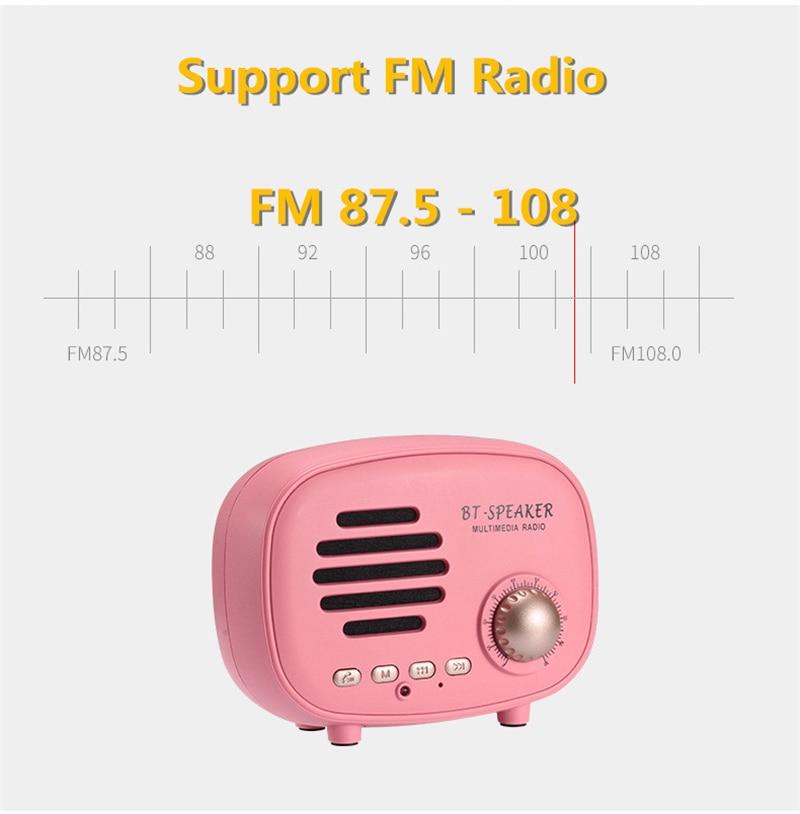 Classic radio Mini Portable Bluetooth Speaker (3)