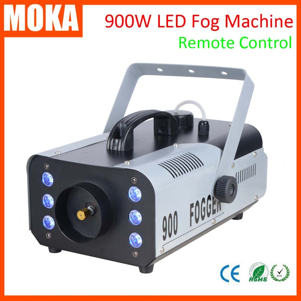 new LED 900W Fog Machine/Smoke Machine/Fogger professional stage lighting DJ equipment Smoke maker 900w 1l fog machine remote wire control fogger smoke machine dj bar party show stage machine