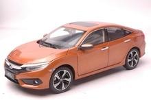 Orange 1:18 honda civic si 2016 10th nesil diecast model gösterisi araba minyatür toys