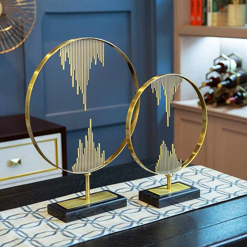 Modern Home Decoration Alloy Ornaments Home Furnishings Creative Wedding Ornament Home Decors Accessories Figurines Crafts Gift