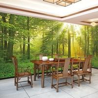QINGCHUN Custom Print Fabric Textile Wallcoverings Wall Cloth Murals Matt Silk For Living Room Forest Scenery