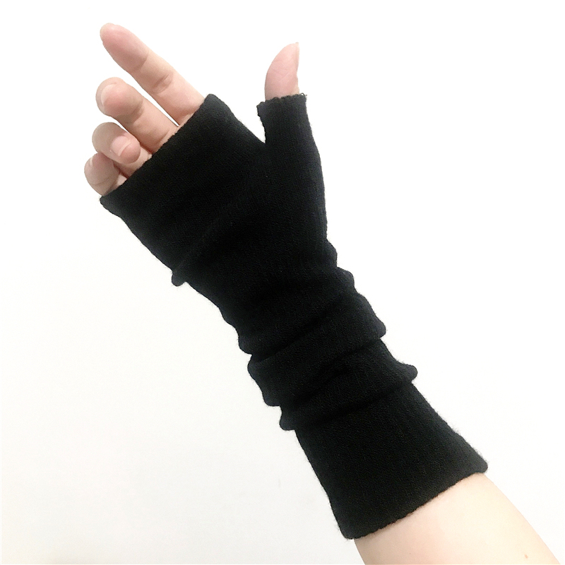 Black Arm Sleeve Punk Rock Half Finger Long Gloves Warmers  Winter  Sunscreen Sleeves  Couple Autumn And Winter  Tattoo Sleeve