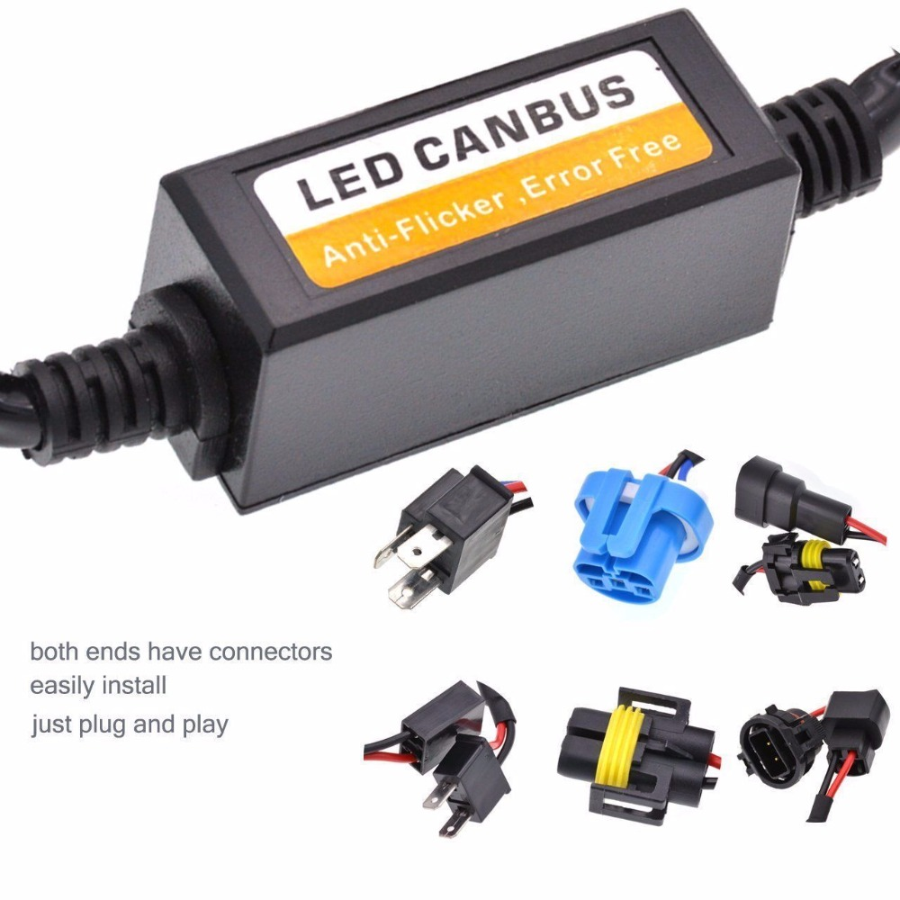 hight resolution of h4 h7 h11 hb3 9005 hb4 9006 canbus wiring harness adapter led car headlight bulb auto headlamp fog light canbus in car light accessories from automobiles