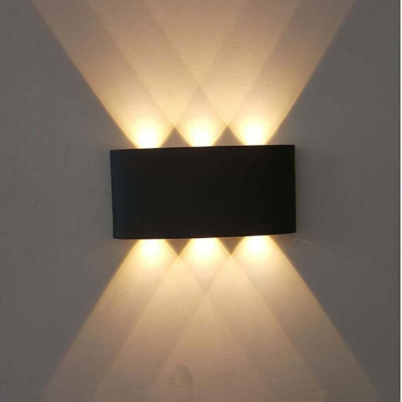 Indoor 6W Warm White 6 LED Waterproof Indoor Outdoor Decor Light Wall Mount Light Lamp for Bedroom White/Warm White