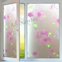 Plum blossom Opaque glass Sticker Privacy Matte Sunscreen Bathroom balcony Windows Film Waterproof Sticker Home Decor 60*500cm