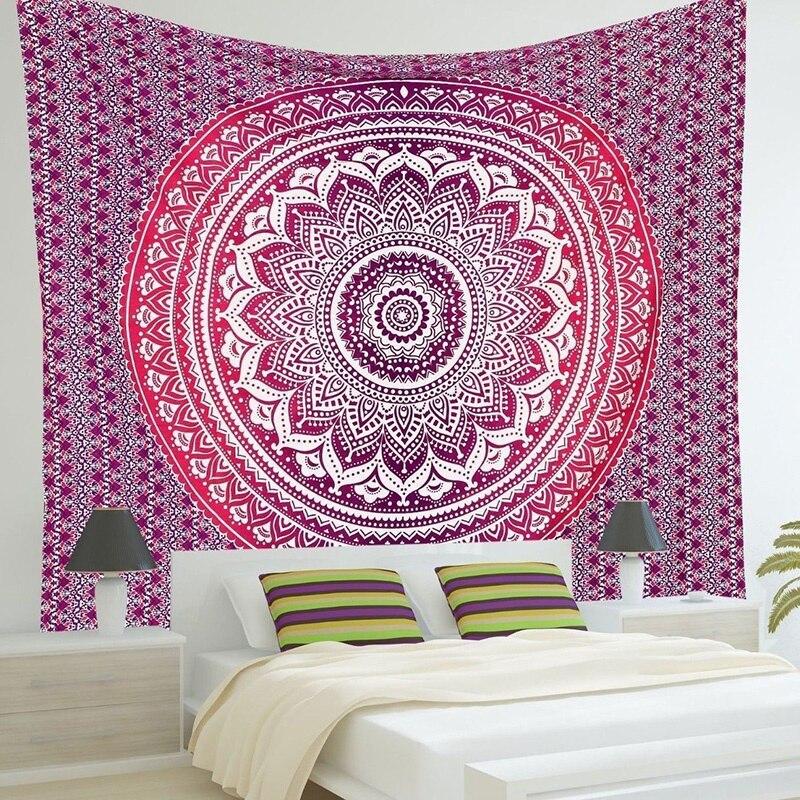 Pink Wall Tapestry 2017 indian mandala tapestry wall hanging printed beach throw