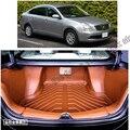 Frete grátis 5d completa cobertura de fibras de couro tapete mala do carro à prova d' água para nissan almera sylphy g11 segunda geração 2005-2013