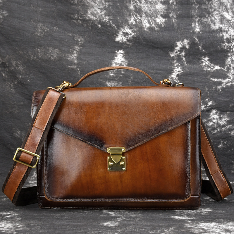 High Quality Cowhide Men Briefcase Business Top Handle Bags Handbag Luxury Genuine Leather Messenger Shoulder CrossBody Tote BagHigh Quality Cowhide Men Briefcase Business Top Handle Bags Handbag Luxury Genuine Leather Messenger Shoulder CrossBody Tote Bag