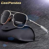 Clásico de calidad superior de EE. UU. de la Fuerza Aérea aviación militar de los hombres gafas de sol polarizadas de conducción de las mujeres gafas de sol, gafas de sol para hombres