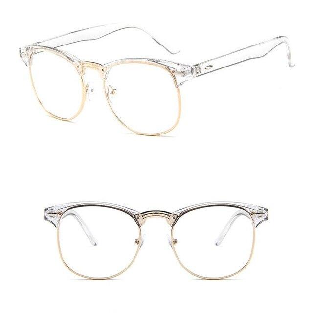 Transparente Limpar Lens Armações de óculos de Aro Cheio de Óculos de metal  do vintage miopia 4b55e15b99