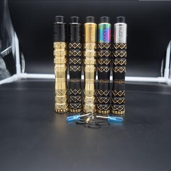 HAMMERHAND mod kit 18650 battery 25mm brass Mechanical Vaporizer  mod vape with 528 GOON 25 RDA Adjustable tank mtl rta Atomizer ulton fev v5 25mm mtl rta dl rta atomizer for vape mod