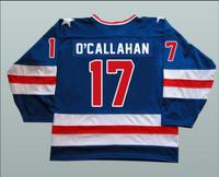 Blue Hockey Jersey Vintage 1980 Miracle On Ice Team USA Jack O Callahan 17 Hockey Jersey