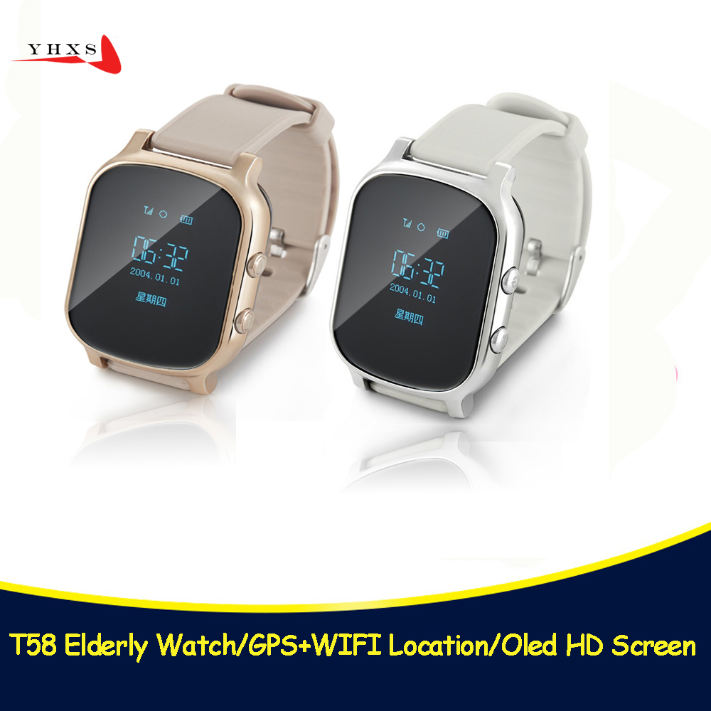 T58 Smart Kid OLED Watch SOS Call GPS WIFI Location Finder Tracker for Child Elder Anti-Lost Remote Monitor Baby Wristwatch цены онлайн