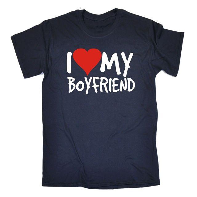 I Love My Boyfriend T SHIRT Dating Valentines Girlfriend Funny Birthday Gift