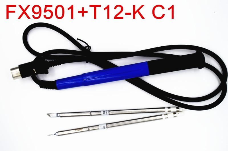 NOVFIX 2pcs T12 Tips with 9501 Handle For Hakko FX951 950 Soldering Station Electric Welding tools soldering