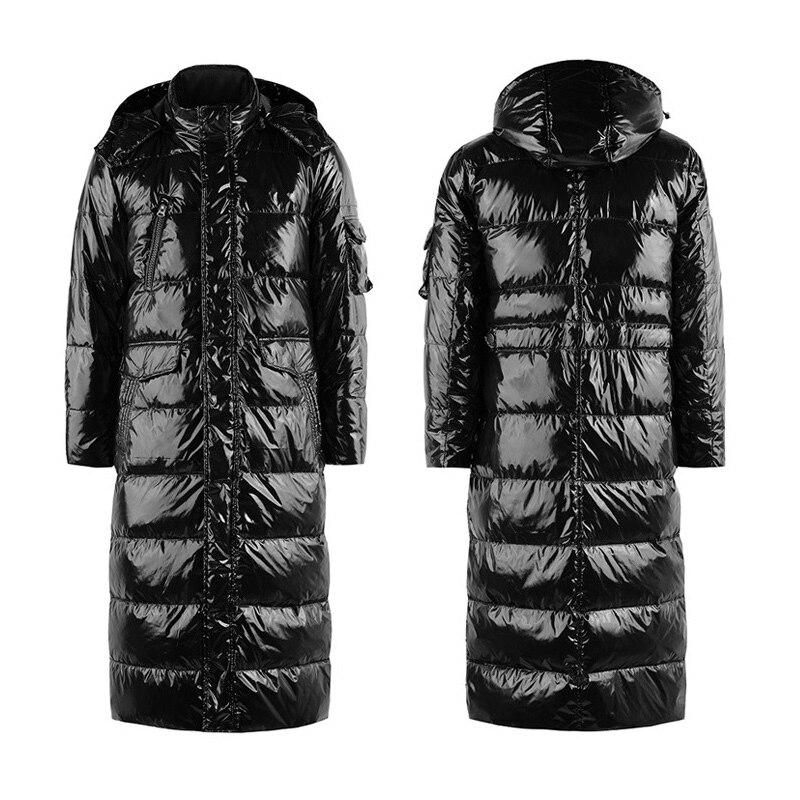 Роскошные пуховая куртка 90% г. мужская белая утка X-Длинные повседневные пуховая куртка зимняя мужская Куртки теплые толстые пуховики пальт...
