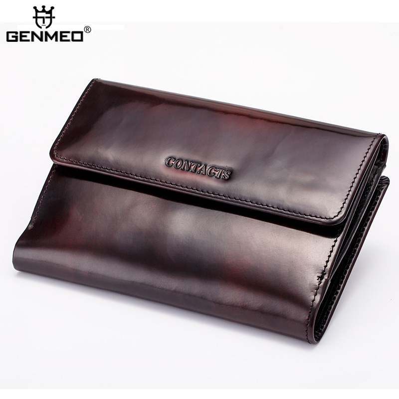 New Arrival Genuine Leather Wallets Men Cow Leather Clutch Bags Real Leather Wallet Credit Card Holder Male Purse Handbag Bolsa 2016 famous brand new men business brown black clutch wallets bags male real leather high capacity long wallet purses handy bags