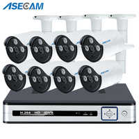 New Super 5MP 4K HDMI POE H.265 NVR Kit 3* Array CCTV Camera System Outdoor IP Camera P2P Video Security Surveillance APP View