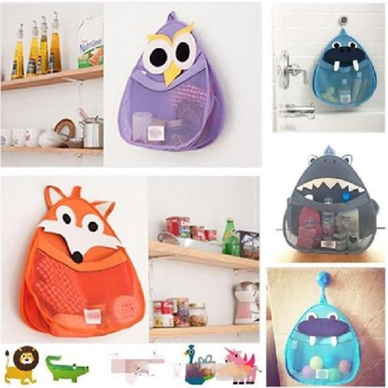 Cartoon Baby Bath Toy Storage Bags Kids Shower Sundries Toys Tidy Organizer Net Mesh Bag Hanging Pouch Bathroom Storage Baskets
