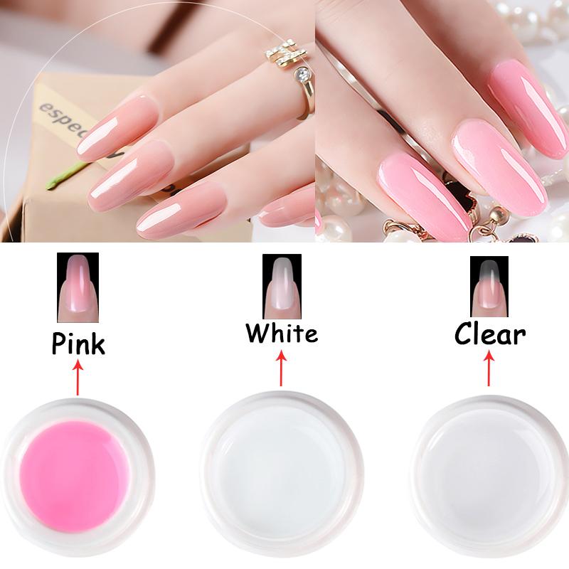 LNWPYH Nail Pink - White - Clear