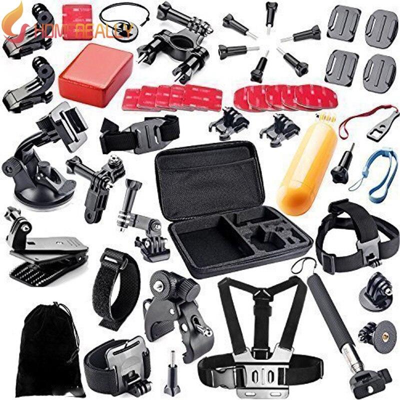 HOMEREALLY Gopro Acessório Conjunto Vara Selfie Coleta Box Para Gopro Hero 5 4 3 4 Sessão de SJ4000 SJ5000 M10 SJ6 Xiaoyi 4 K M20