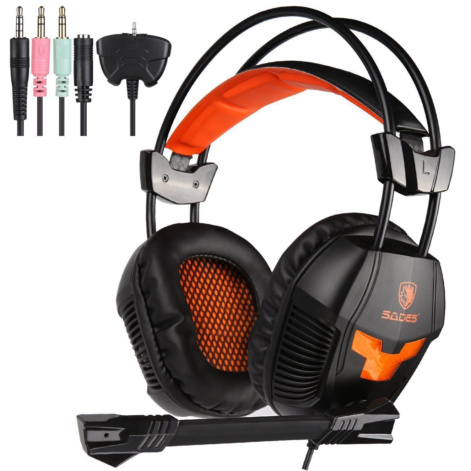 Top Deals Sades SA-921 Stereo Gaming Headphones for a Mobile Phone PS4/Xbox 360/MAC/PSP/Laptop PC Gamer Headset Gaming Headpho наушники hifi xbox xbox 360 ps4 ps3 pc gaming headphones