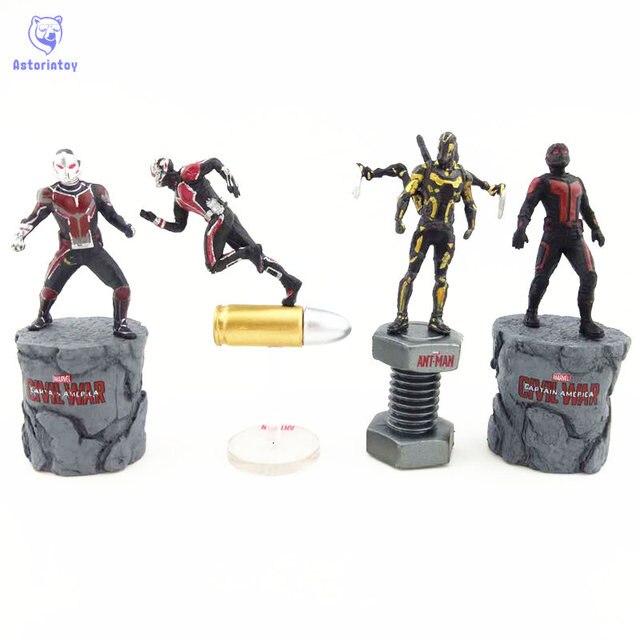 Marvel Civil War Captain America Super Hero Ant Man Wasp Mini PVC Action  Figure Collectible Model Kids Toys Doll 6.5cm d531c40a1d31