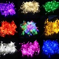 10 M 20 m 30 m 50 m LED Luzes Cordas de Fadas luzes De Natal Ao Ar Livre Iluminação Cordas Guirlandas Decorações de Casamento Lampjes Slinger